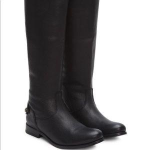 Black Melissa Button-Back Leather Boot - Women